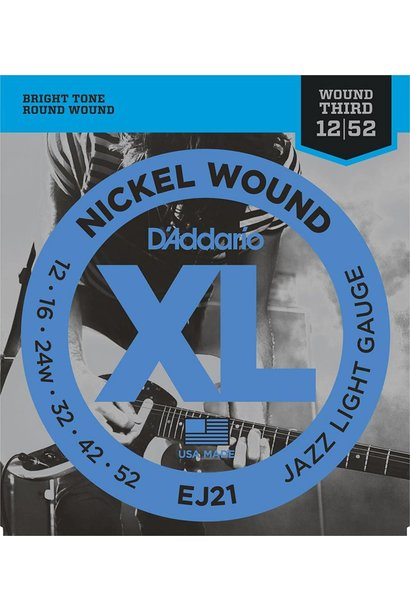EJ21 Nickel Wound, Jazz Light, 12-52