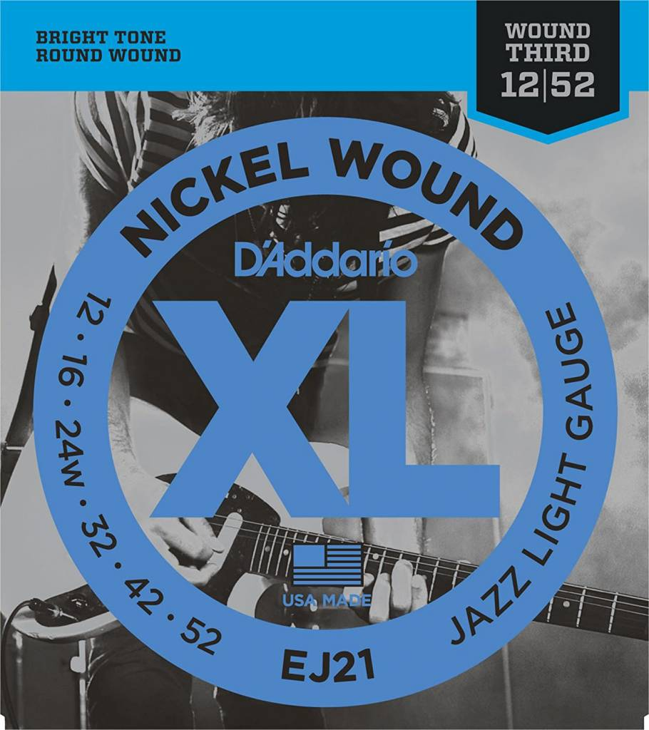EJ21 Nickel Wound, Jazz Light, 12-52-1