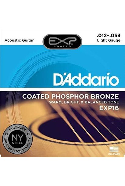 EXP16 Coated Phosphor Bronze Acoustic Guitar, Light, 12-53