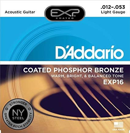 EXP16 Coated Phosphor Bronze Acoustic Guitar, Light, 12-53-1