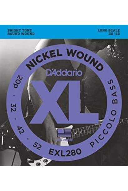 EXL280 Nickel Wound Piccolo Bass, 20-52, Long Scale