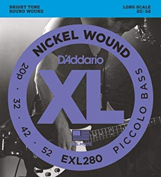 EXL280 Nickel Wound Piccolo Bass, 20-52, Long Scale-1