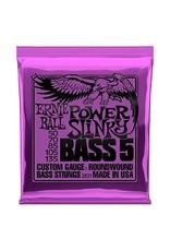 Ernie Ball 5-String Power Slinky Bass Strings 2821