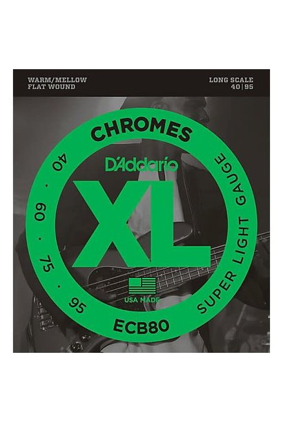 ECB80 Chromes Flat Wound Bass Strings