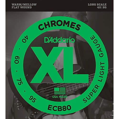 ECB80 Chromes Flat Wound Bass Strings-1