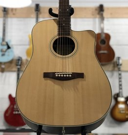 Eastman Guitars AC220-CE Natural Cutaway Acoustic/Electric Guitar w/Bag