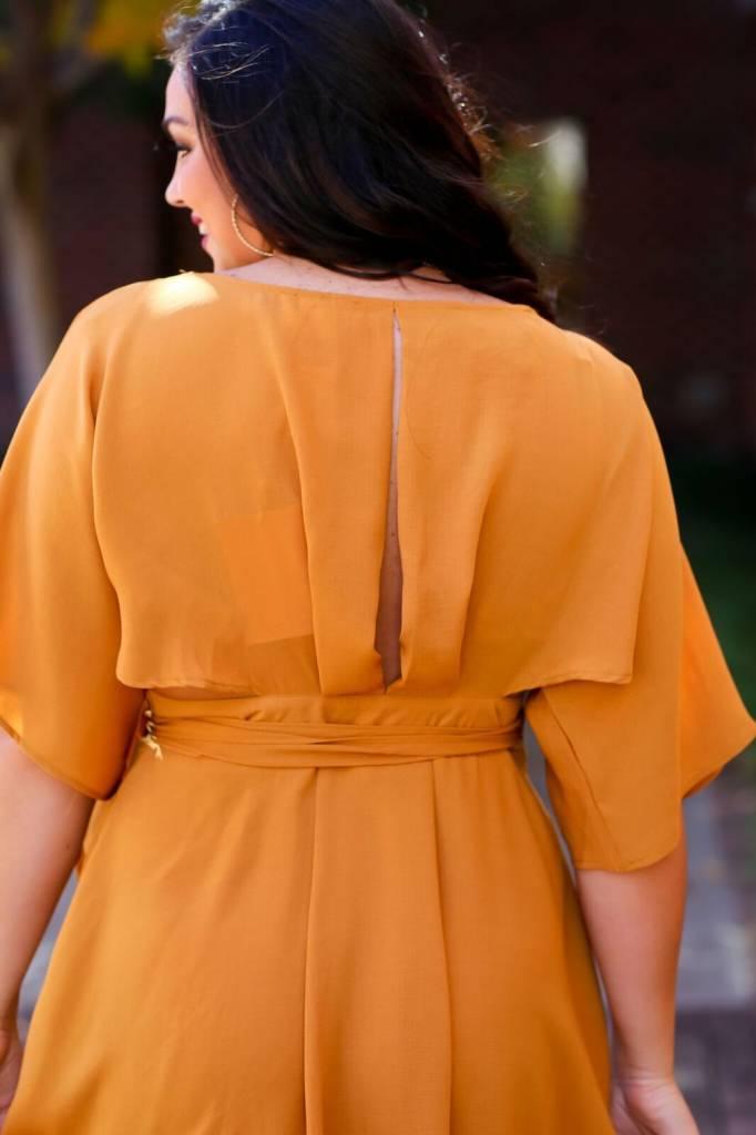 Fanco Mustard Wrap Dress