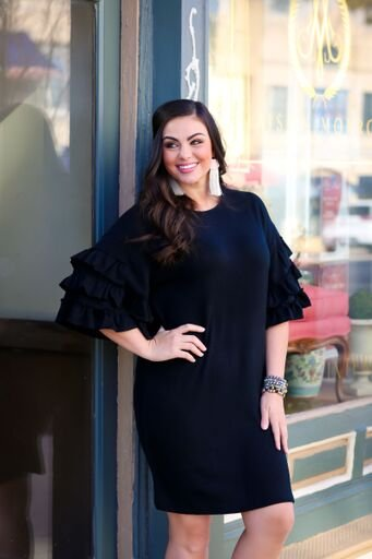 Black Ruffled Sleeve Dress 3 Jems Concord