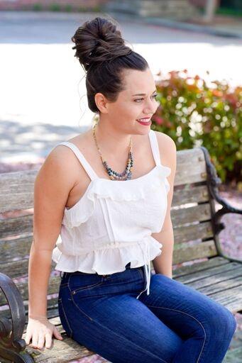 Hem & Thread White Crochet Ruffle Top