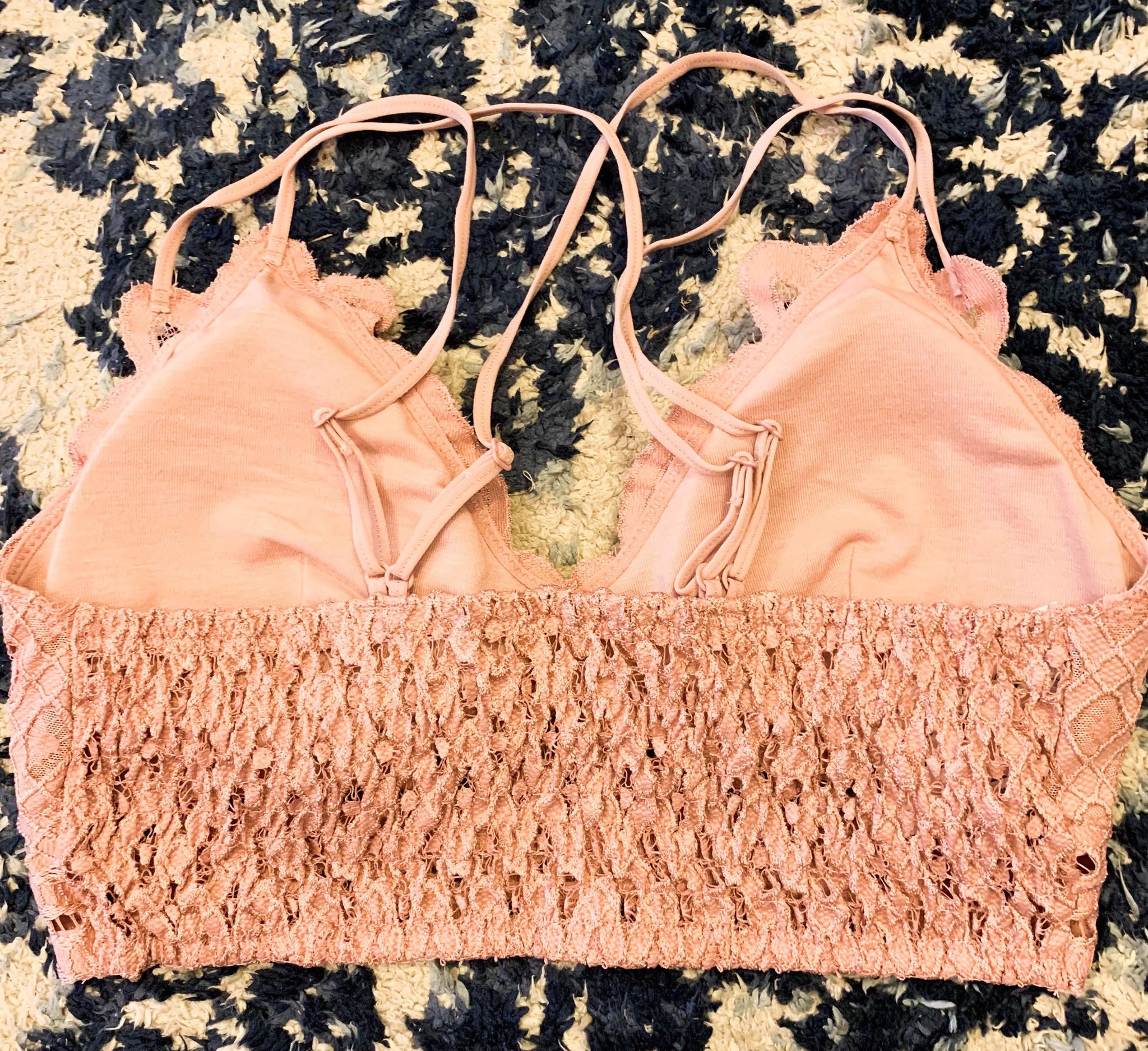 Wishlist Padded Lace Crisscross Bralette