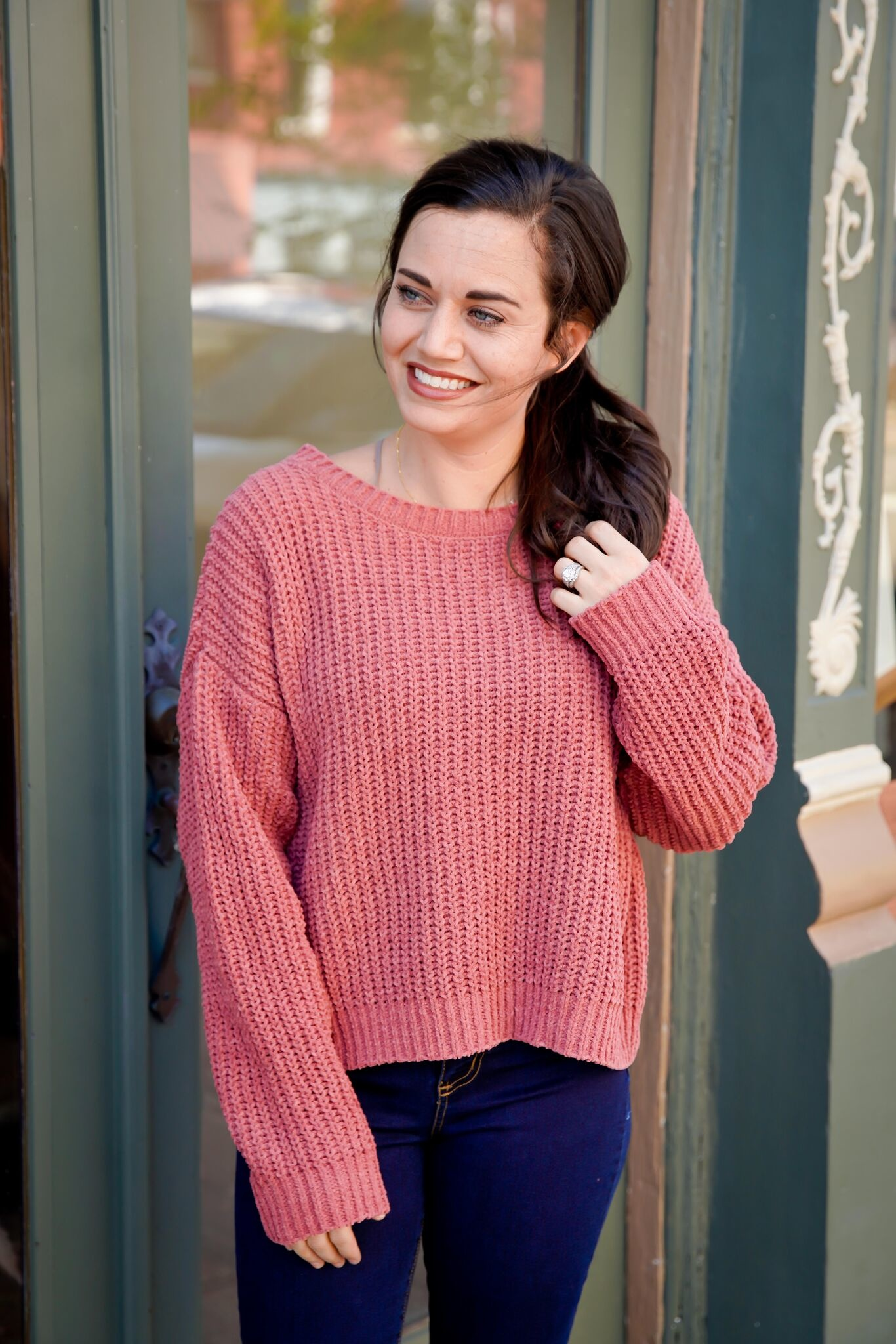 Double Zero Indie Pink Cropped Sweater