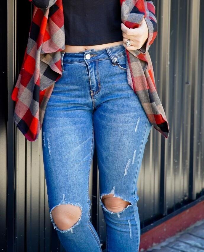 Hammer Jeans Medium Blue Mid Rise Skinny Jean