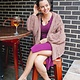 Very J Thick Cable Knit Balloon Sleeve Cardigan