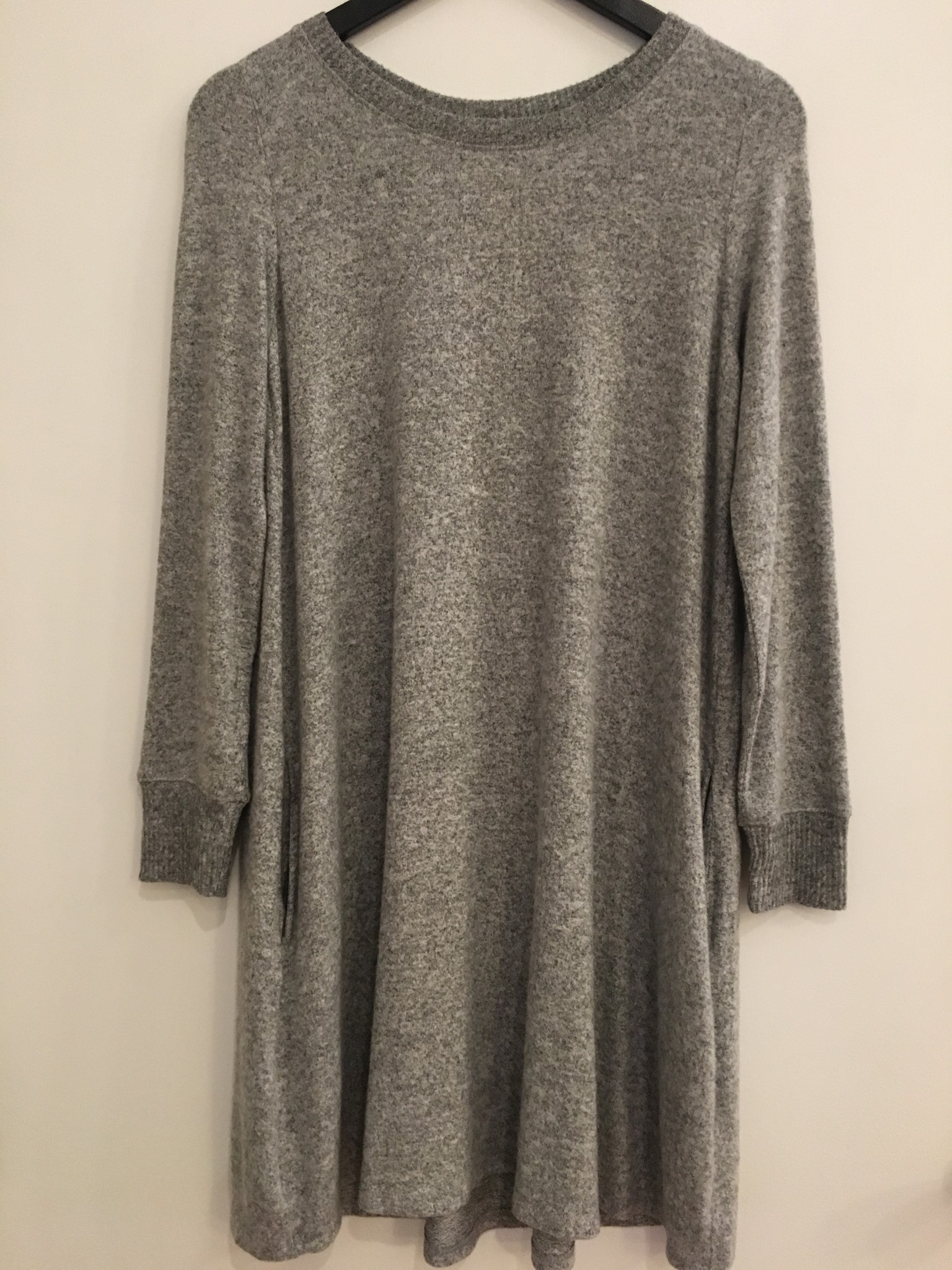Cherish Round Neck Long Sleeve Pocket Dress