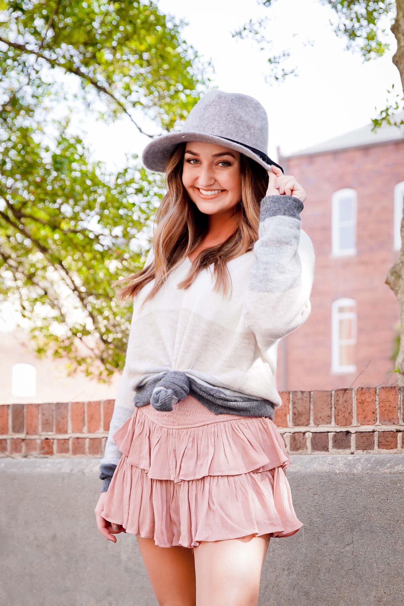 Light Stripe Colorblock Sweater