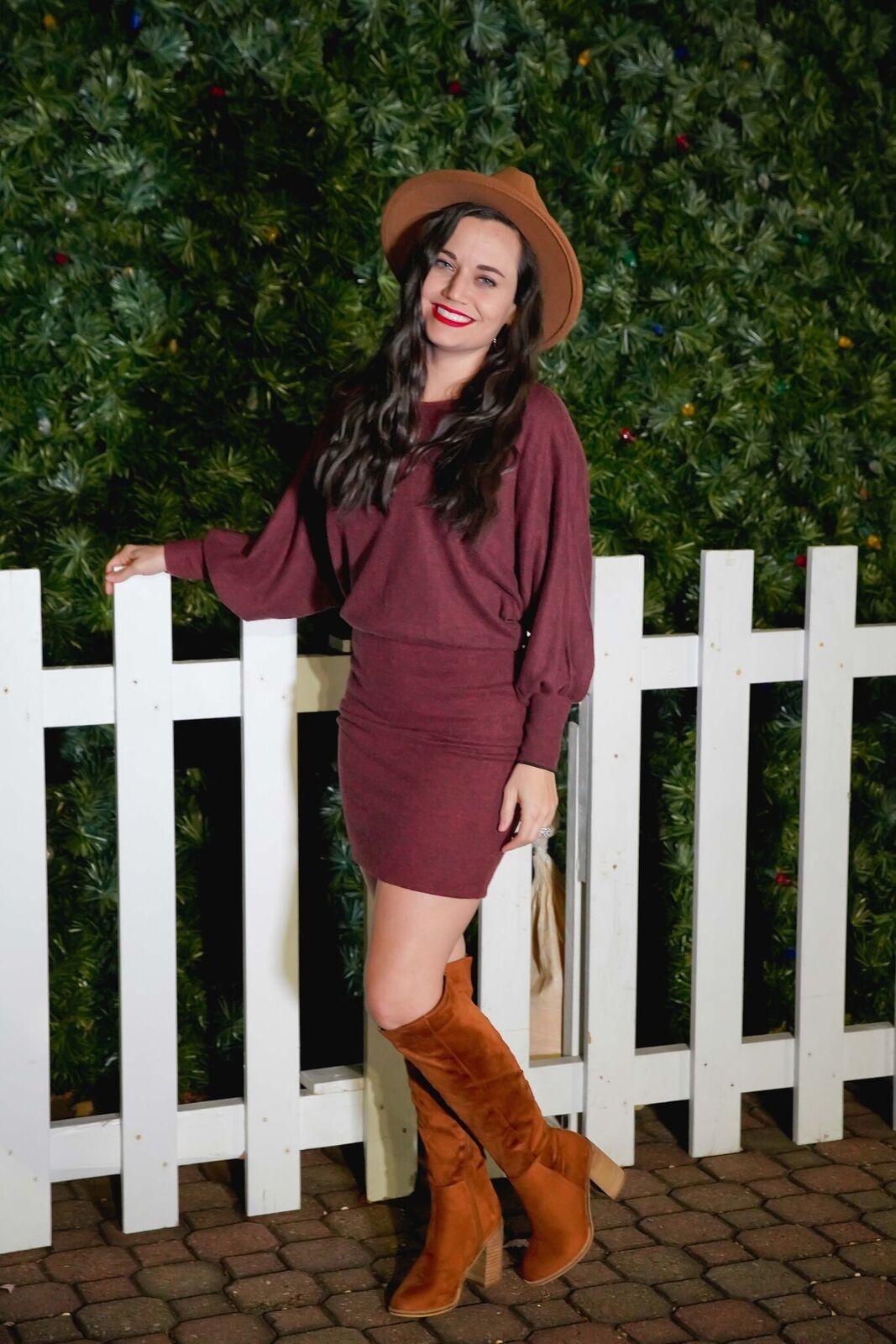 Lush Picante Dolman Sweater Dress