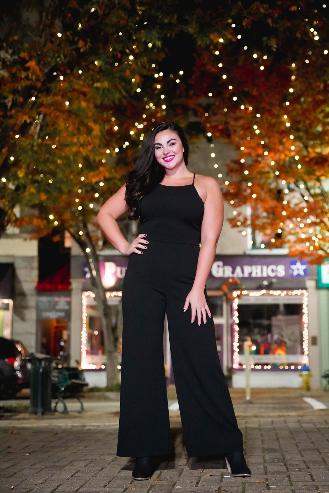 Lush Black Criss Cross Back Jumpsuit