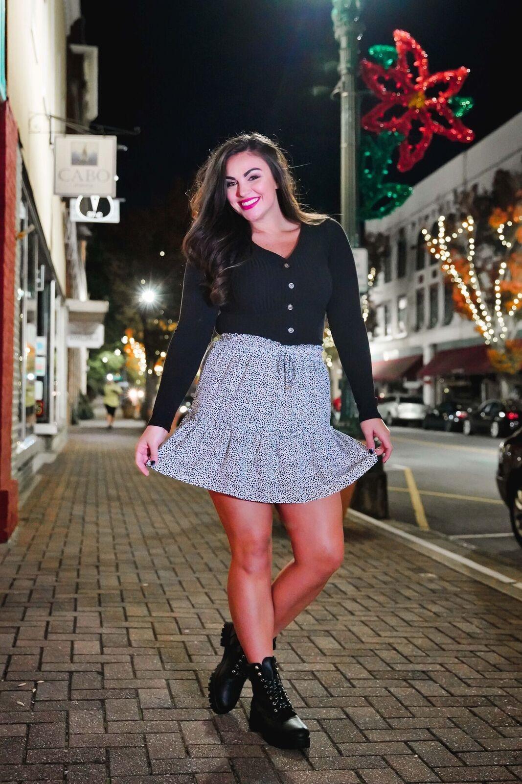 Harper Animal Print Mini Skirt