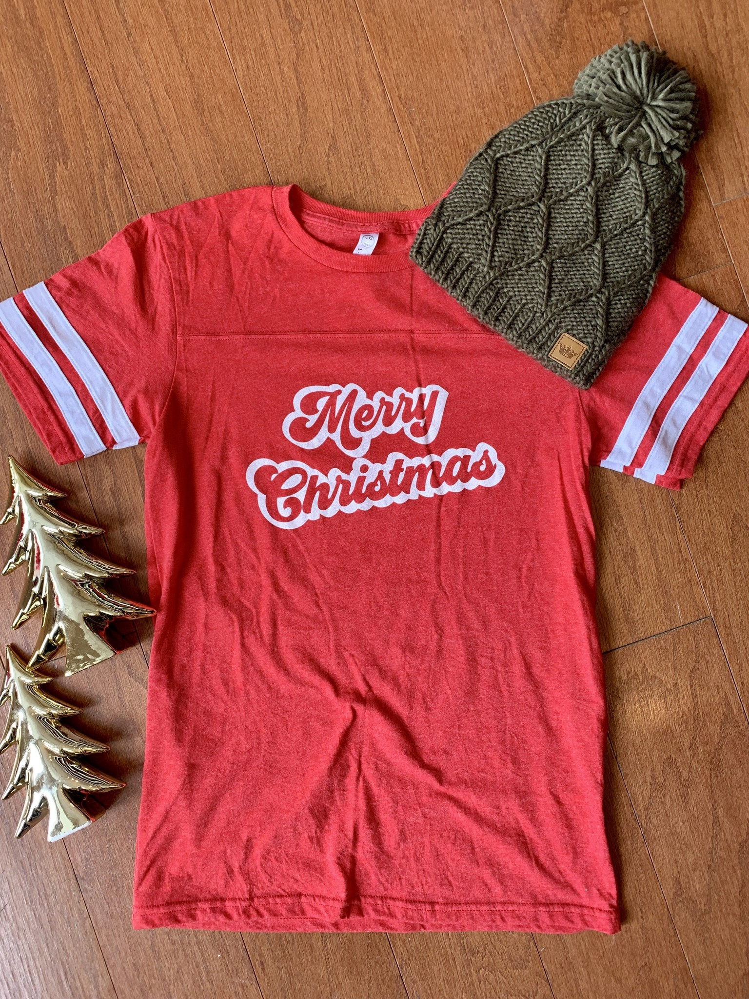 Vintage Soul Merry Christmas Jersey Tee