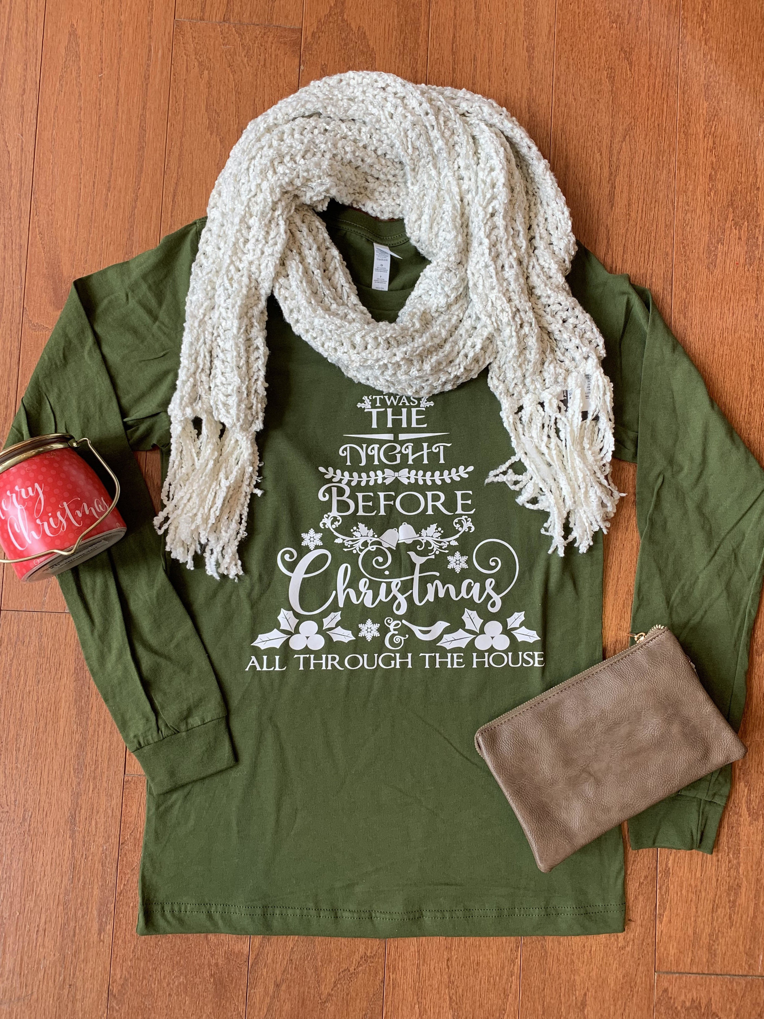 Bella Canvas Twas The Night Before Christmas Top