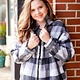 Mittoshop Grey Buffalo Plaid Zipper Jacket
