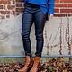 Hammer Jeans Black Leather Skinny Pants