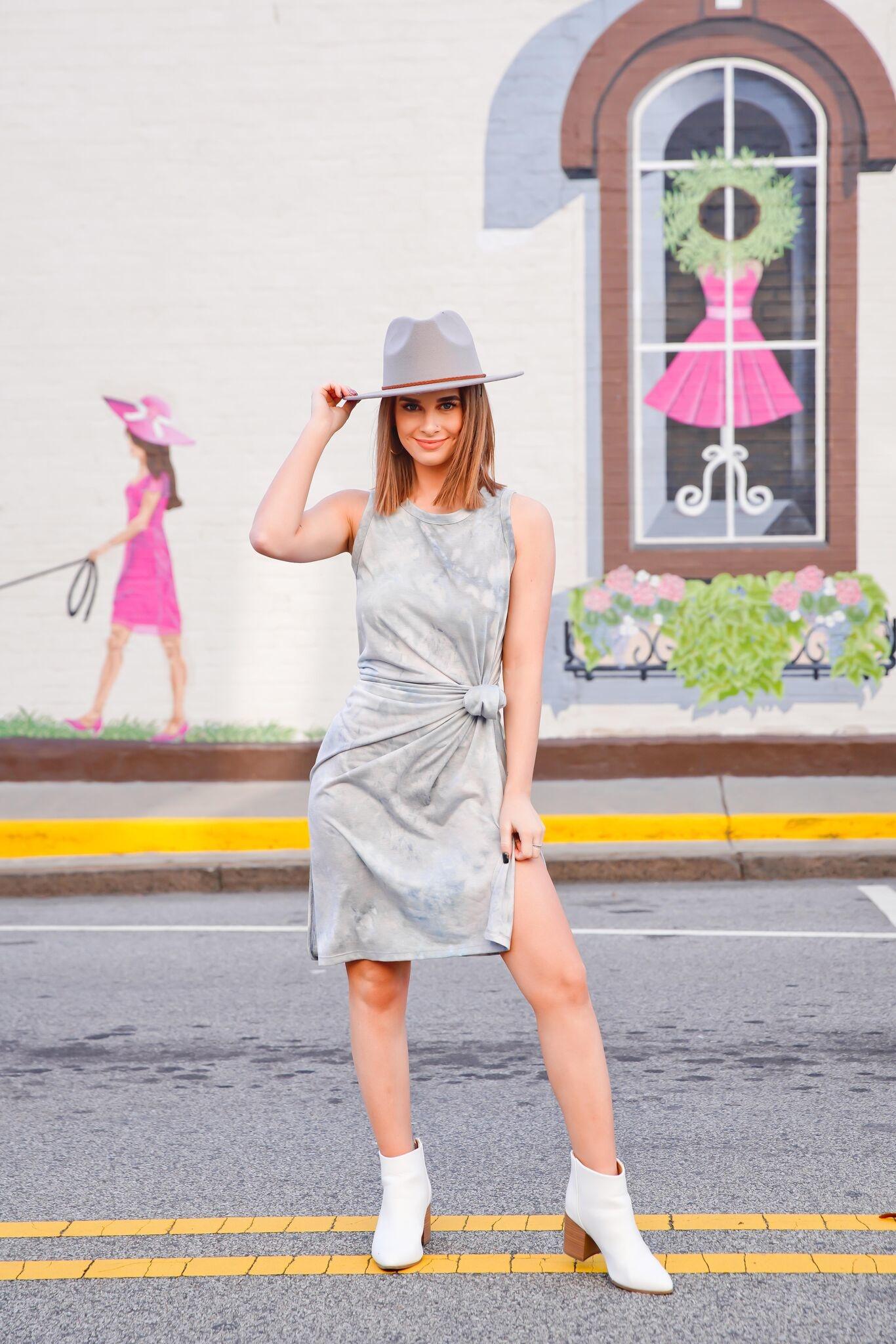 La Miel Dove Tie Dye Sleeveless Dress