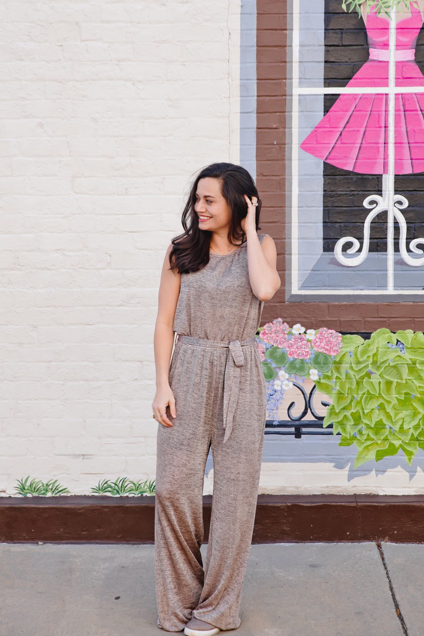Kori Mauve/Grey Two Tone Sleeveless Jumpsuit