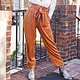 Easel Camel Twill Tie Waist Slouchy Pants