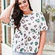 Vine + Love Multicolored Leopard Print Top