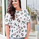 Vine + Love Multicolored Leopard Print Top