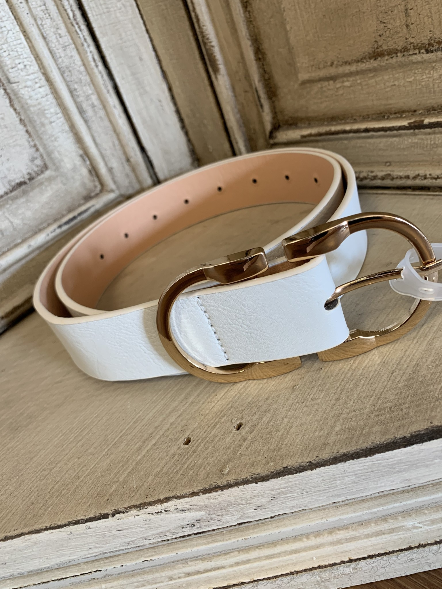 Double Metal Ring Belt