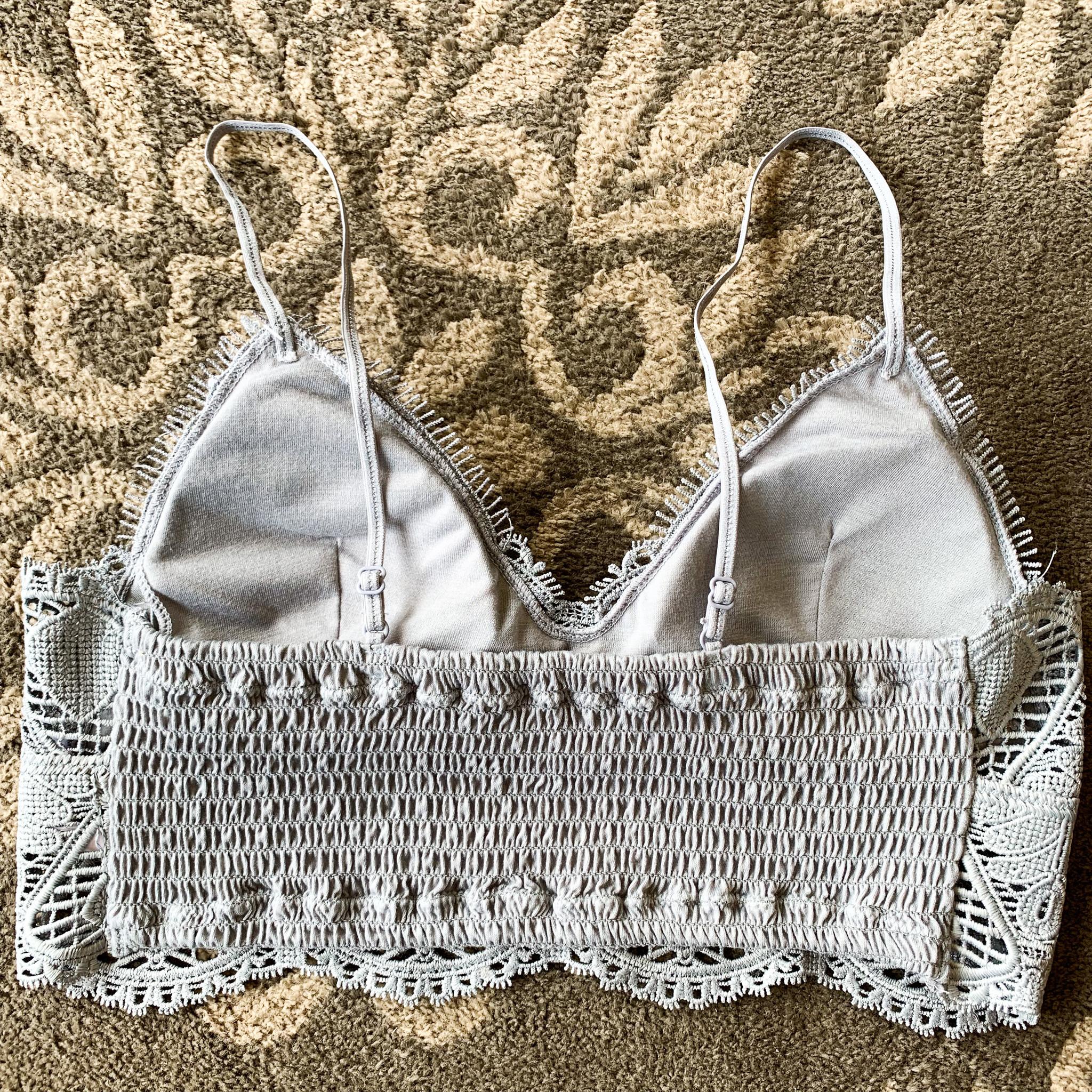 Anemone Crochet Lace Padded Bralette