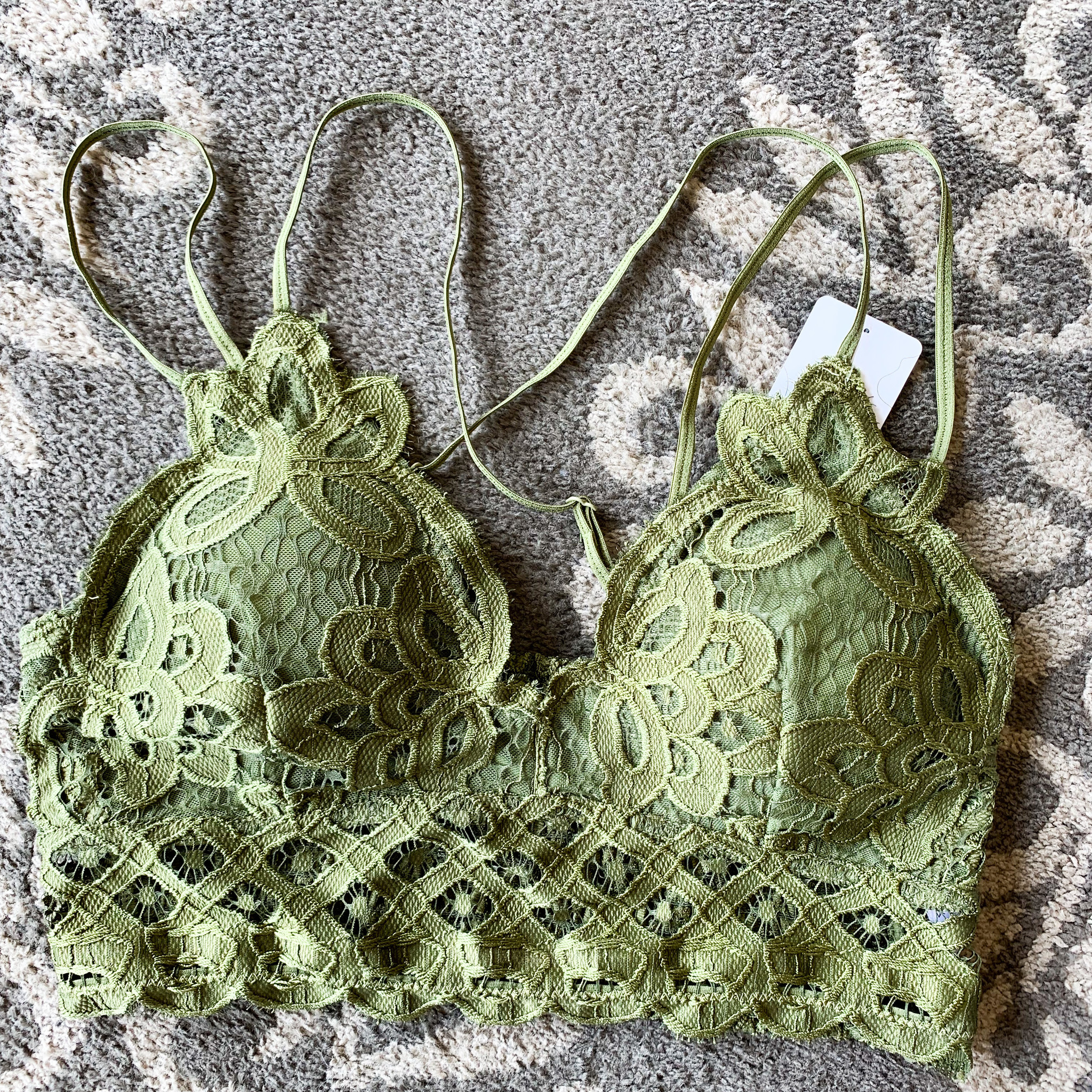 Anemone Padded Lace Criss Cross Bralette