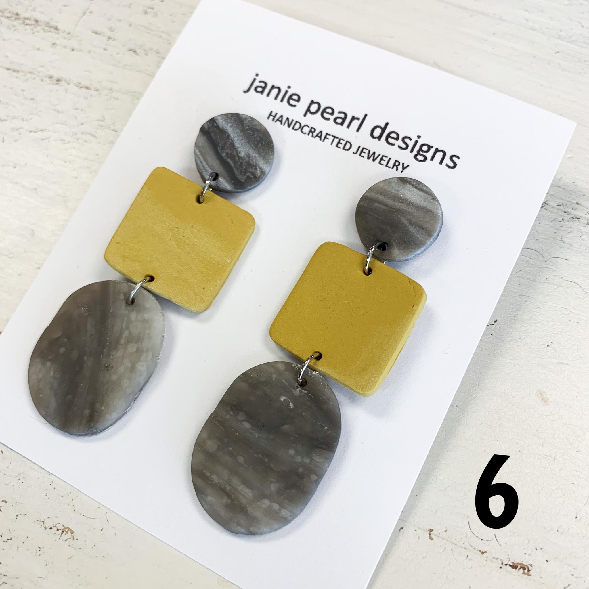 3 Tier Clay Earring
