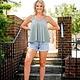 Heather Grey Flowy Tank Top