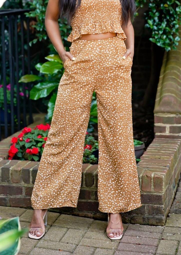 Khaki Patterned Pants