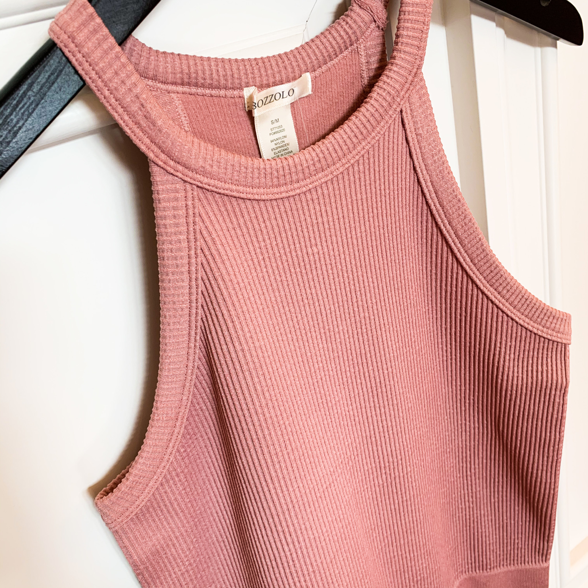 Bare Rose Halter Neck Fitted Tank Top