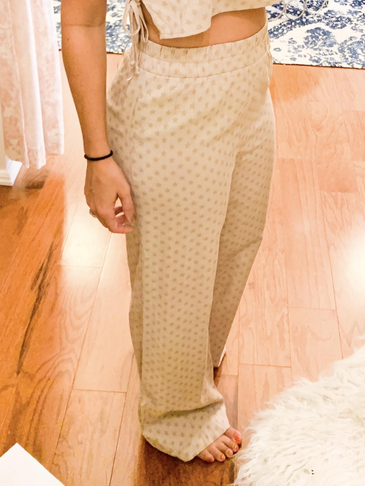 Paper Moon Tan Star Print Pants