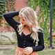 Long Sleeve Button Down Basic Bodysuit