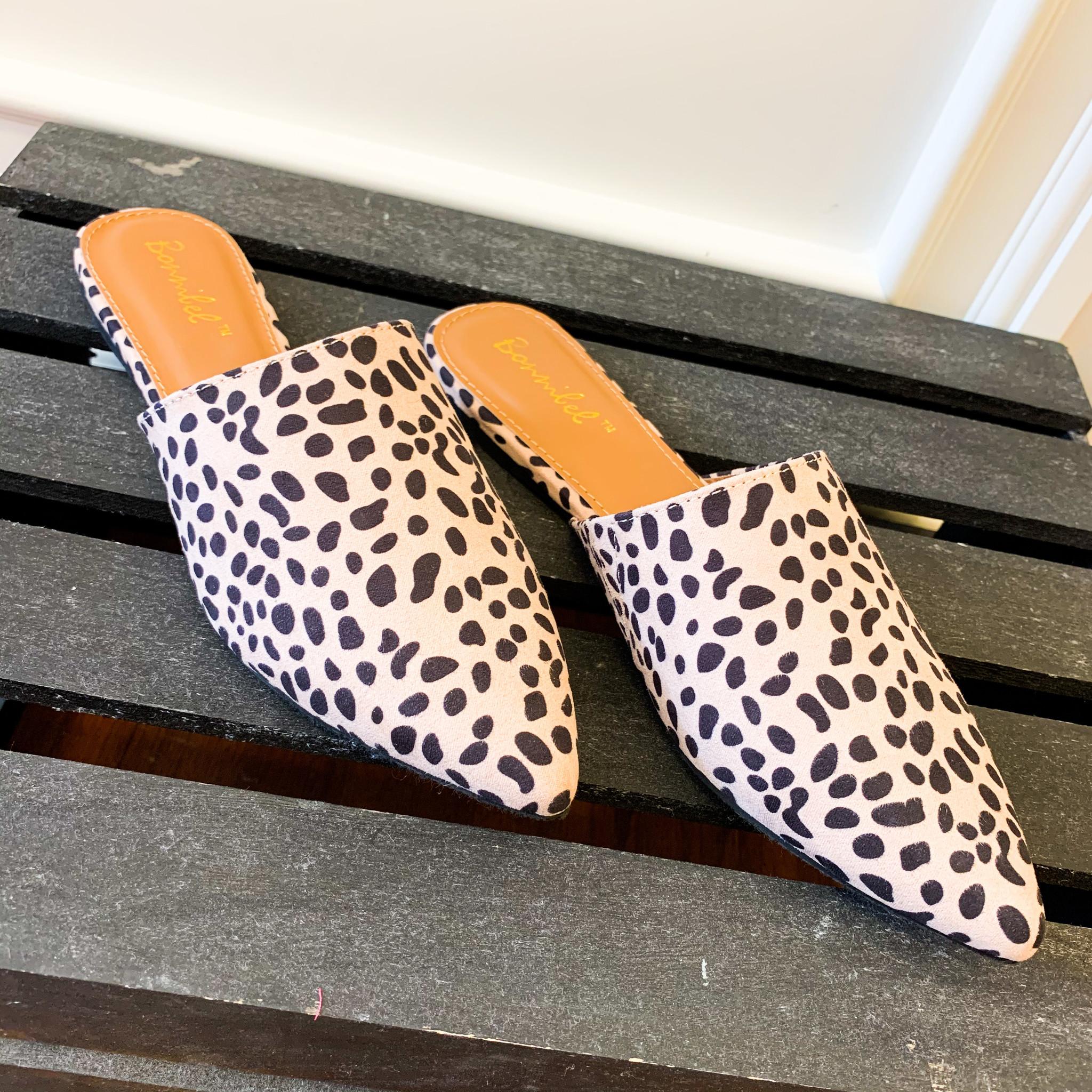 Bonnibel Cheetah Print Flat Mules