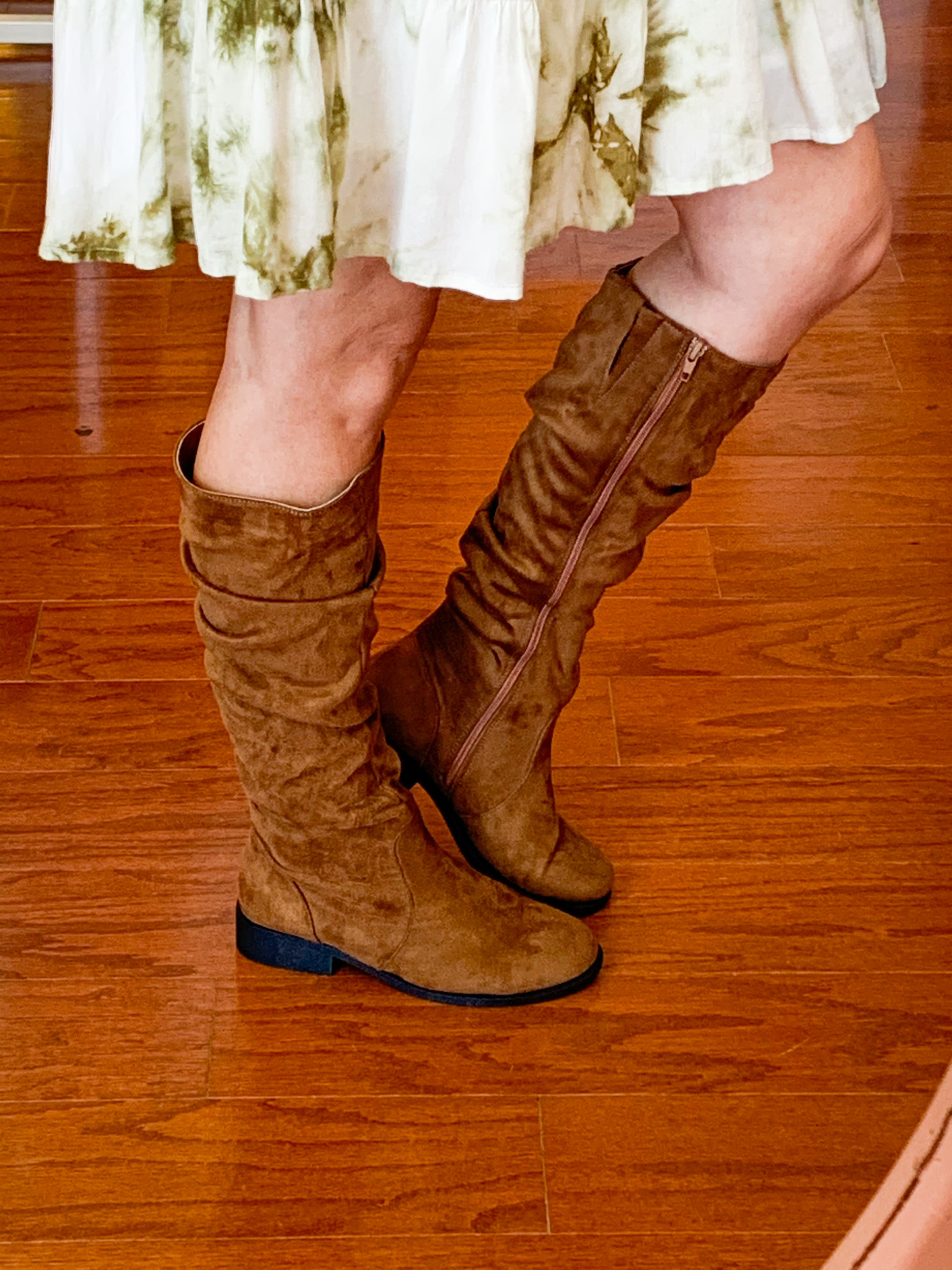 Qupid Maple Suede Flat Boots