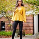 Golden Glow Long Sleeve Top