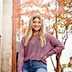 Plum Eyelet Knit Sweater Top