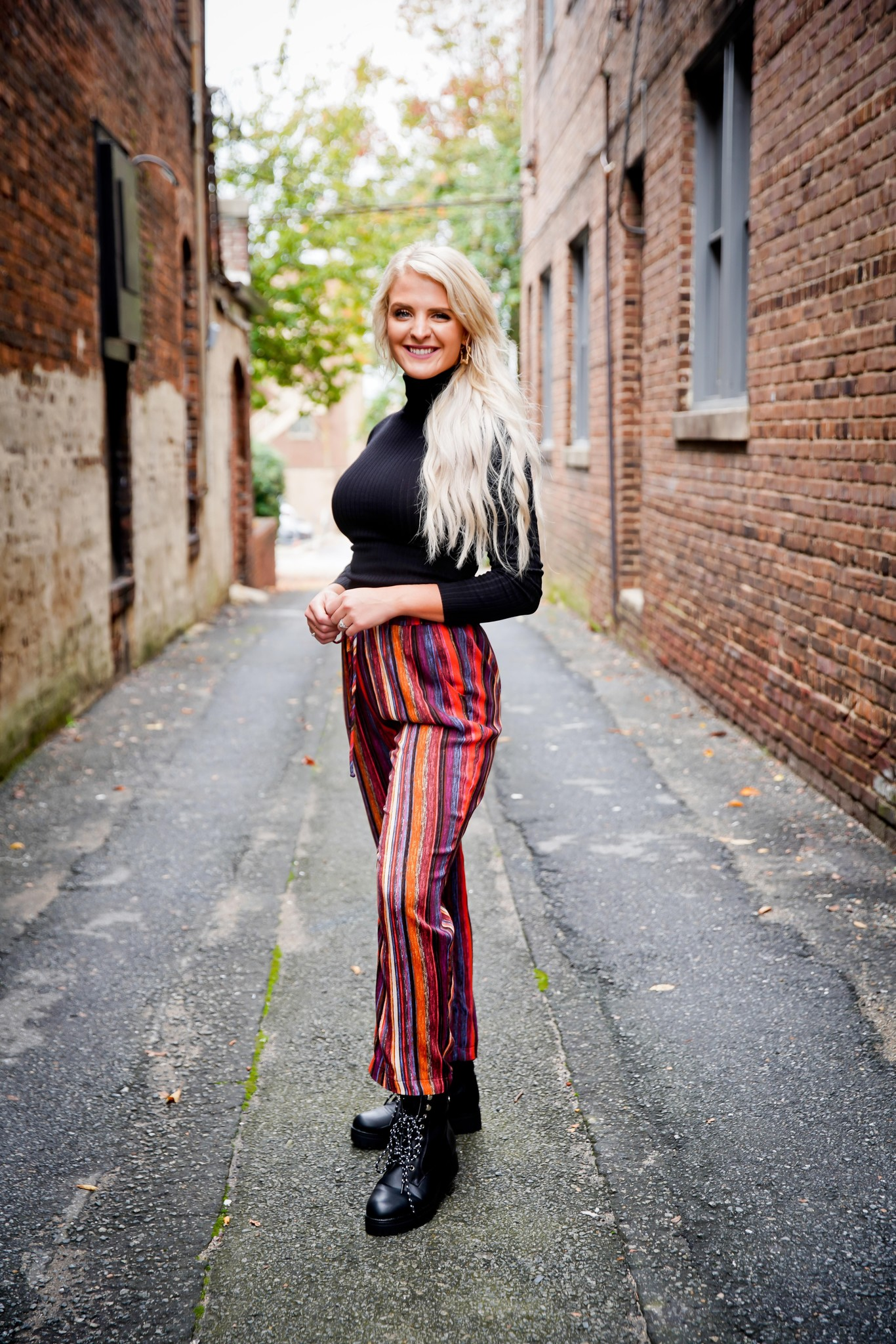 Ces Femme Multi Colored Stripe Drawstring Pants