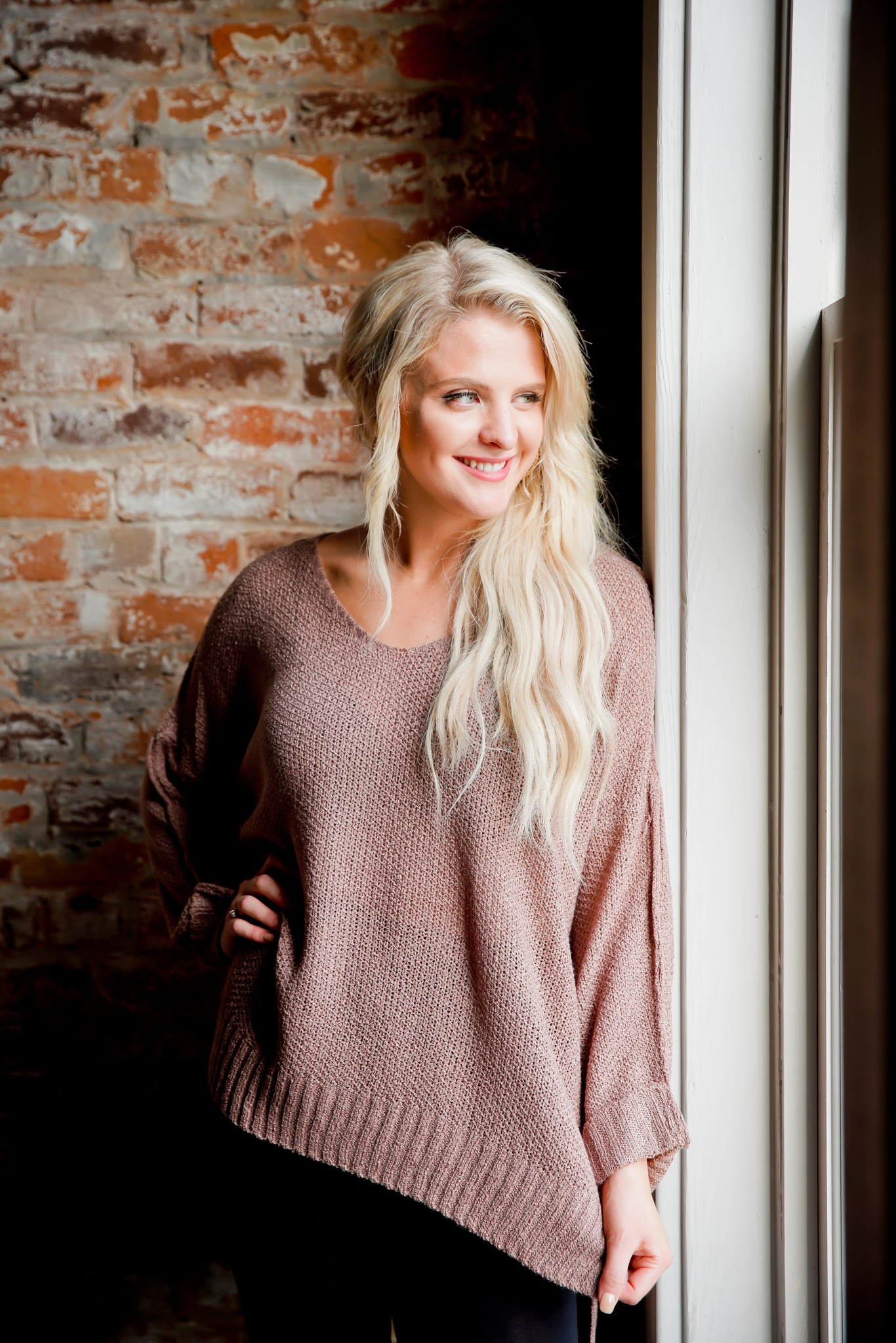 Slouchy Textured Sweater