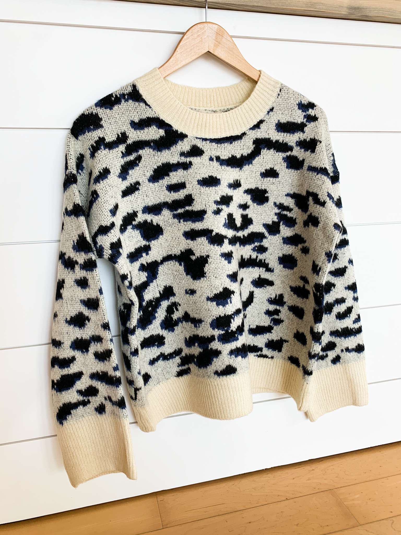 Cheetah Print Pullover Sweater