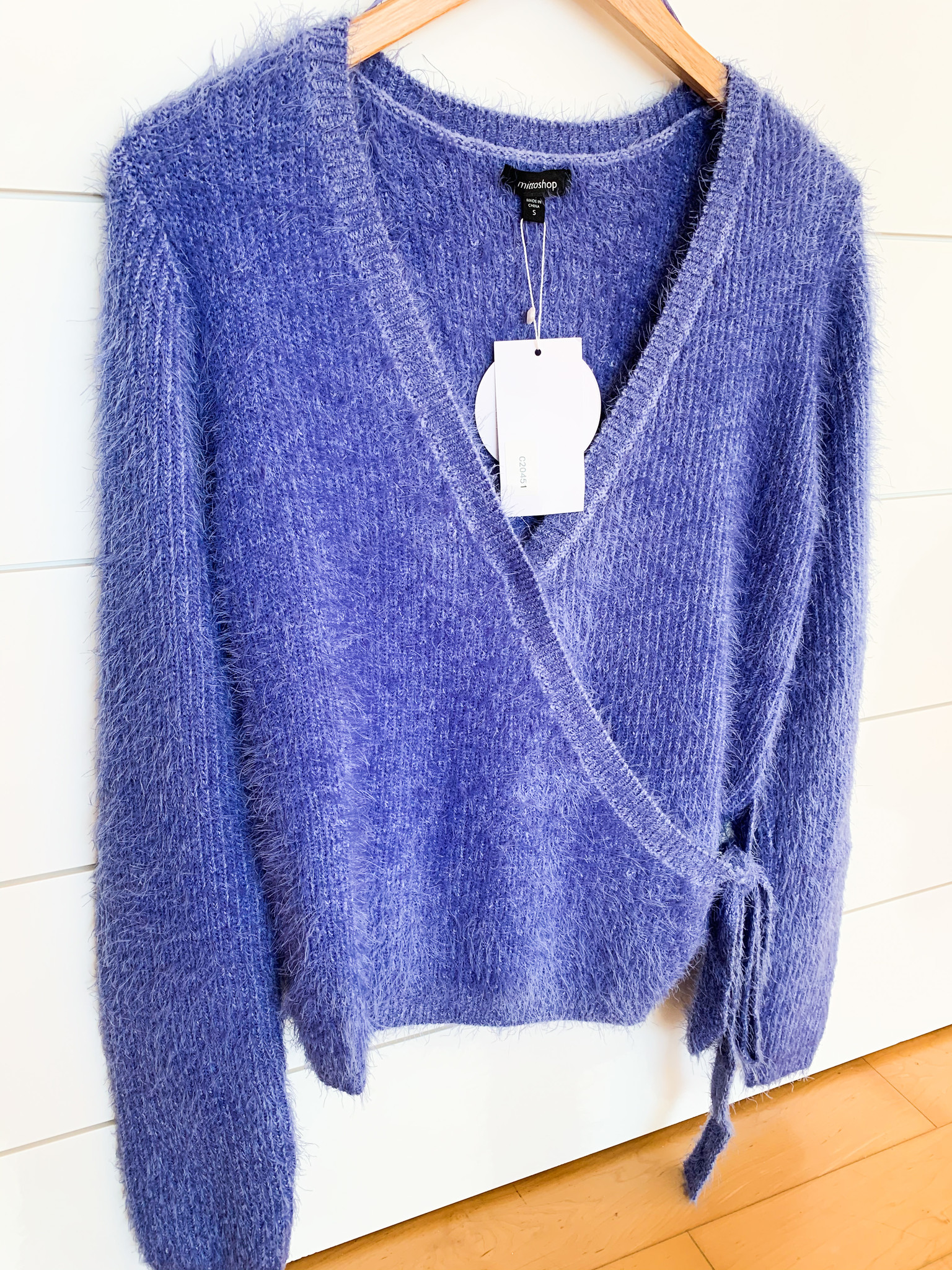Mittoshop Blue Iris Fur Surpliced Side Sweater