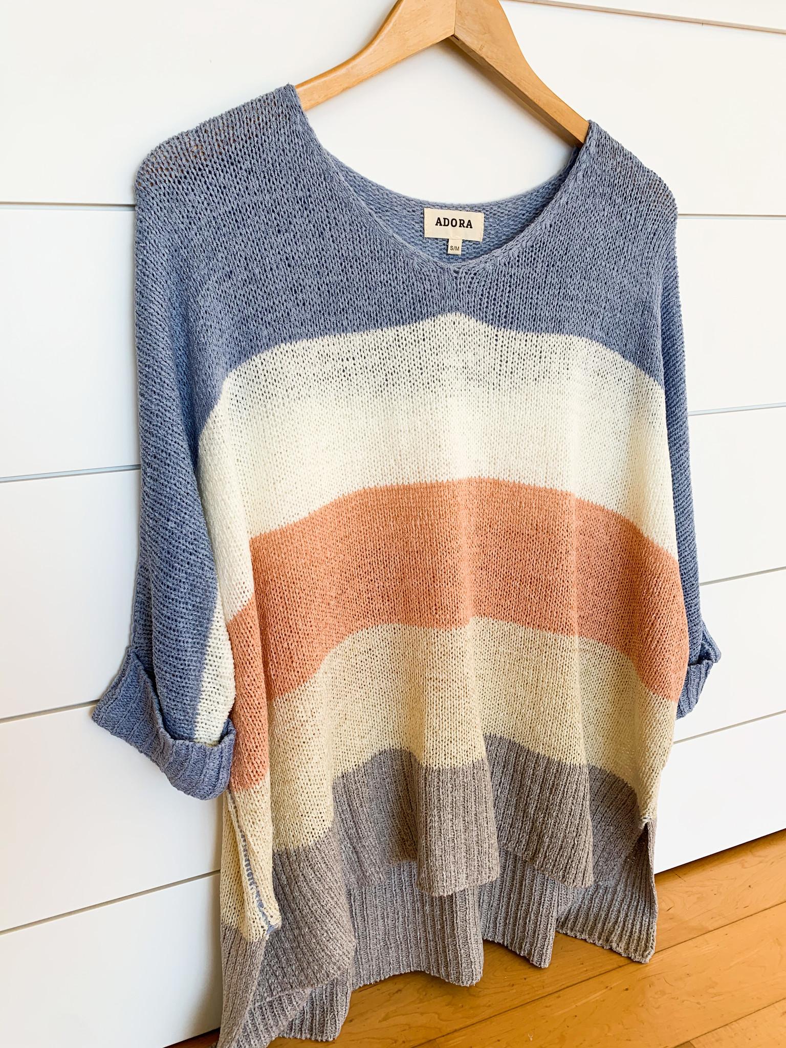 Blue/Grey Color Block Sweater