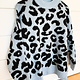 Sky Blue Leopard Print Sweater